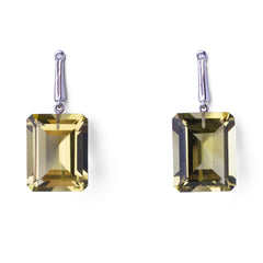 Georgie Earrings -  White Gold - Joan Hornig Jewelry