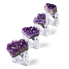 2 Piece Geode Napkin Ring Set - Joan Hornig Jewelry