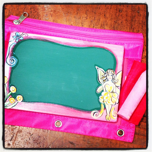 Handcrafted Travel Chalkboard - Fairy