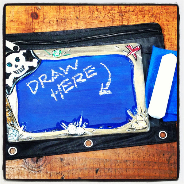 Handcrafted Travel Chalkboard - Pirate