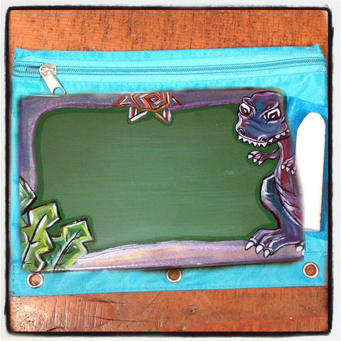 Handcrafted Travel Chalkboard - Dinosaur