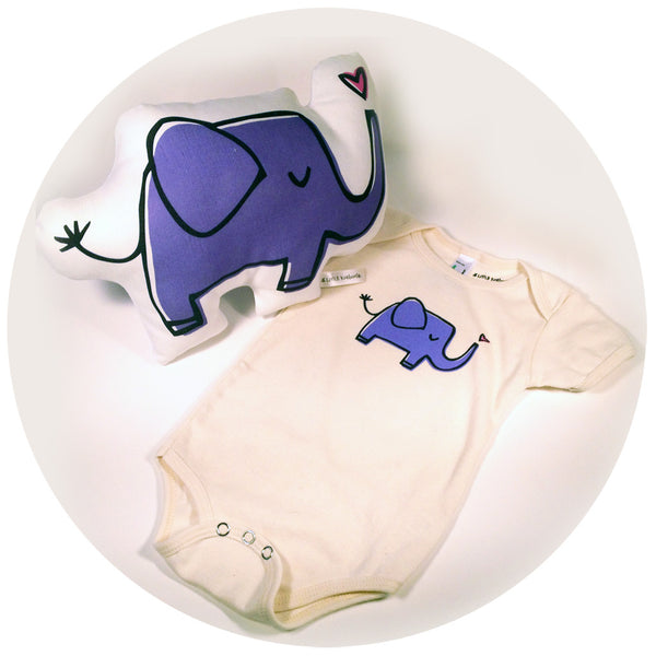 Organic Elephant Onesie & Softie Set