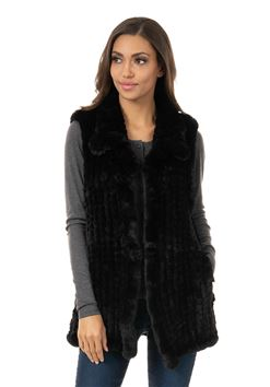 KNITTED FUR VEST