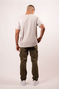 Cozy Layer Tee - Cool Grey