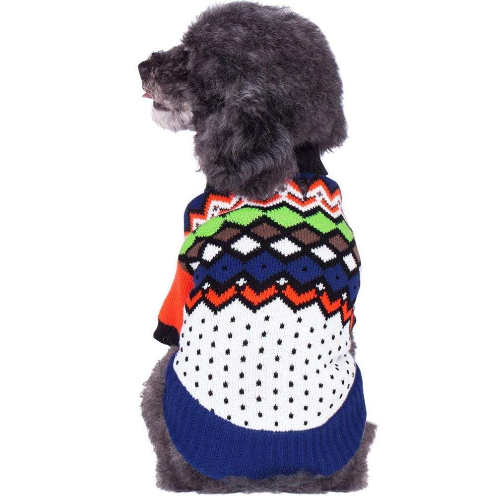 Dog Sweater Blueberry Pet Over the Rainbow Multicolor Shawl collar Dog Sweater Multicolor Rainbow of Single Layer / 10""