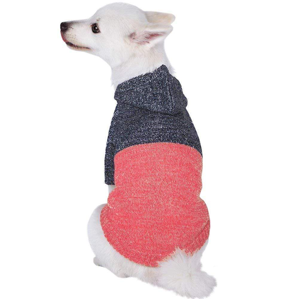 Dog Sweater Blueberry Pet Winter Symphony Marled Color-block Dog Sweater Marled Color-block / 10""