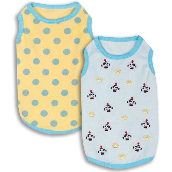 Dog Shirt Blueberry Pet Affection Sleep & Play Dog Shirts, 2 Pack