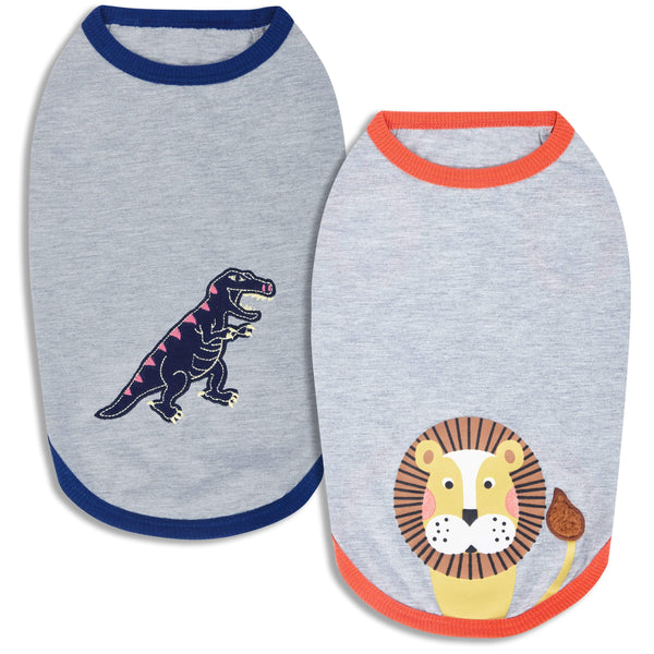Dog Shirt Blueberry Pet Zoo Fun Dog T-Shirts, 2 Pack