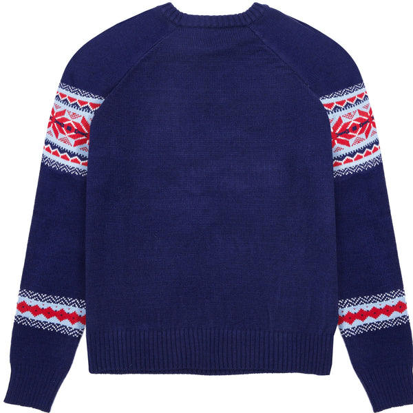 Dog Sweater Blueberry Pet Holiday Chic Secret Fair Isle Navy Blue Matching Family Christmas Sweater