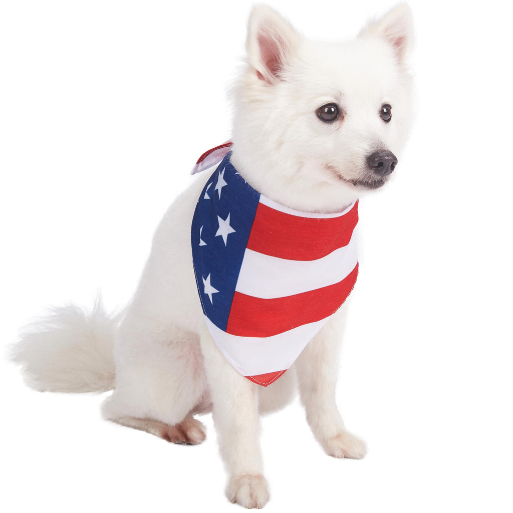 Dog Bandana Blueberry Pet National Pride Dog Bandana American Flag / One Size
