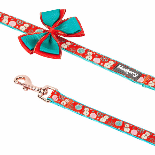 Dog Leash Blueberry Pet Christmas Snowman Making Dog Leash