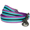 Dog Leash Blueberry Pet 3M Reflective Multi-colored Stripe Dog Leash Violet and Celeste / S