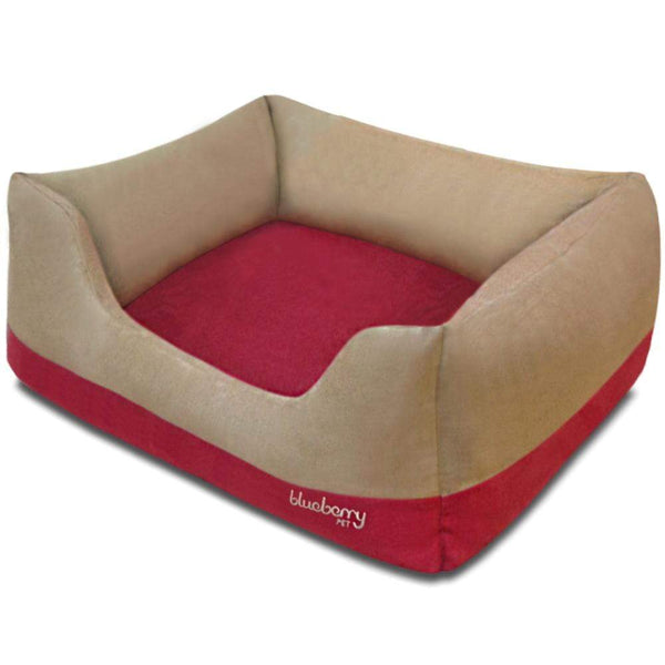 Bed Cover Blueberry Pet Color-Block Premium Microsuede Dog Bed Cover