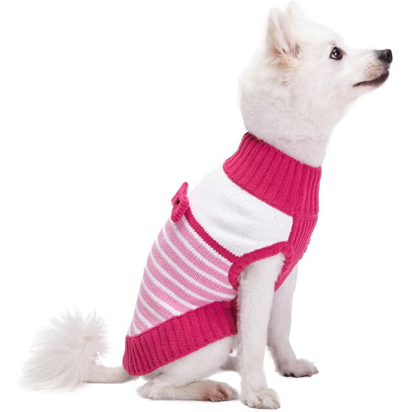 Dog Sweater Blueberry Pet Pinky Princess Designer Chenille Dog Sweater with Bow