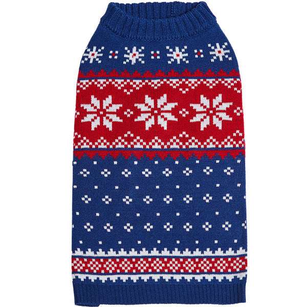 Dog Sweater Blueberry Pet Christmas Snowflake Dog Sweater