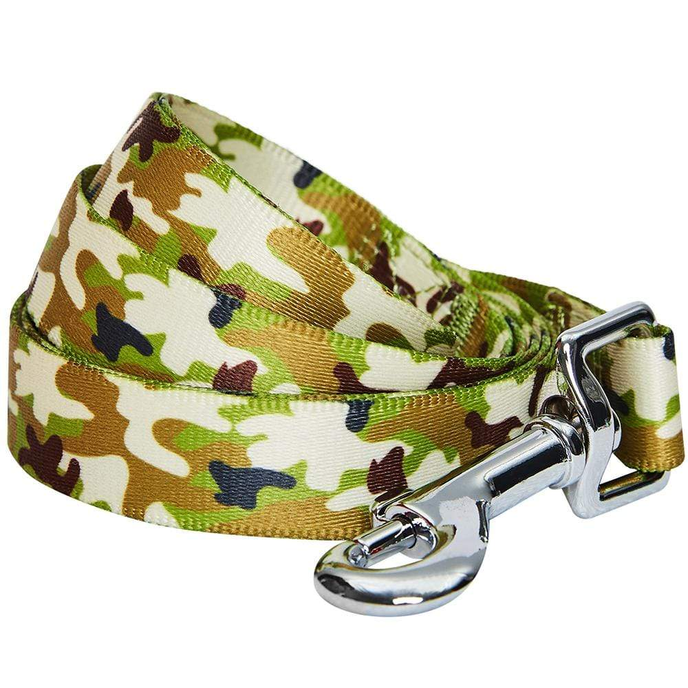 Dog Leash Essentials by Blueberry Pet Camouflage Dog Leash Green Camo / S
