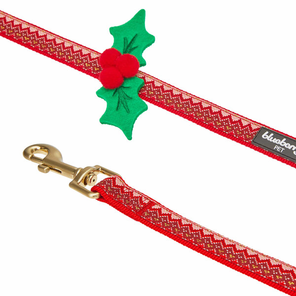 Dog Leash Blueberry Pet Christmas Zigzag Chevron Dog Leash