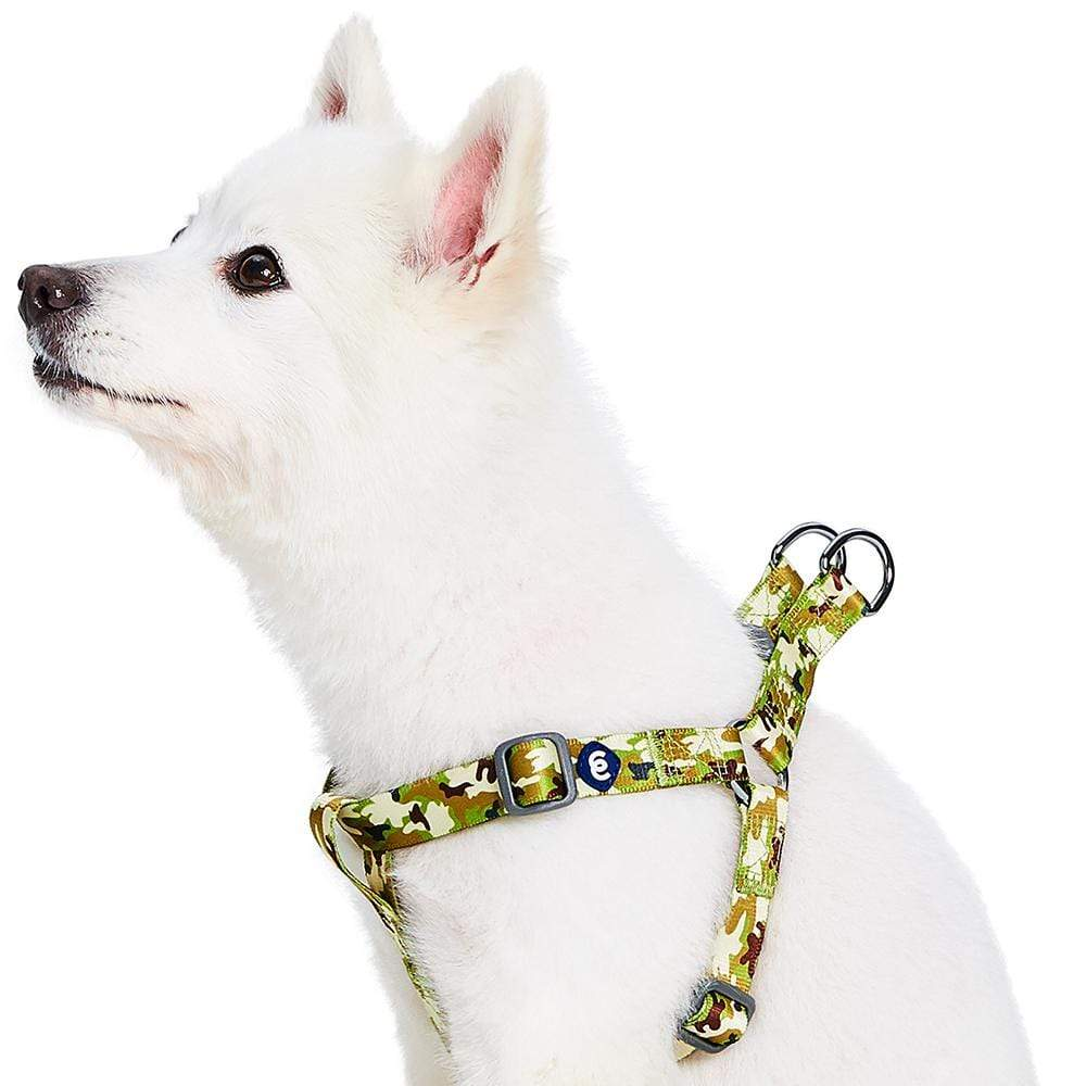 Dog Harness Essentials by Blueberry Pet Camouflage Dog Harness Green Camo / Small