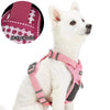 Dog Harness Blueberry Pet Reflective Mesh Padded No Pull Dog Harness Vest Pink / Small