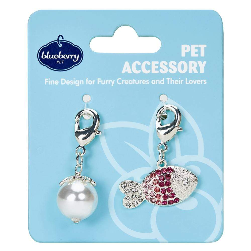 Cat Accessory Blueberry Pet Cat Accessory Set Pearl + Crystal Fish / One Size