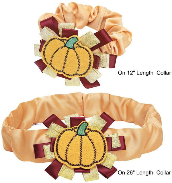 Dog Collar Blueberry Pet Thanksgiving Pumpkin Dog Collar Cover Pumpkin / One Size