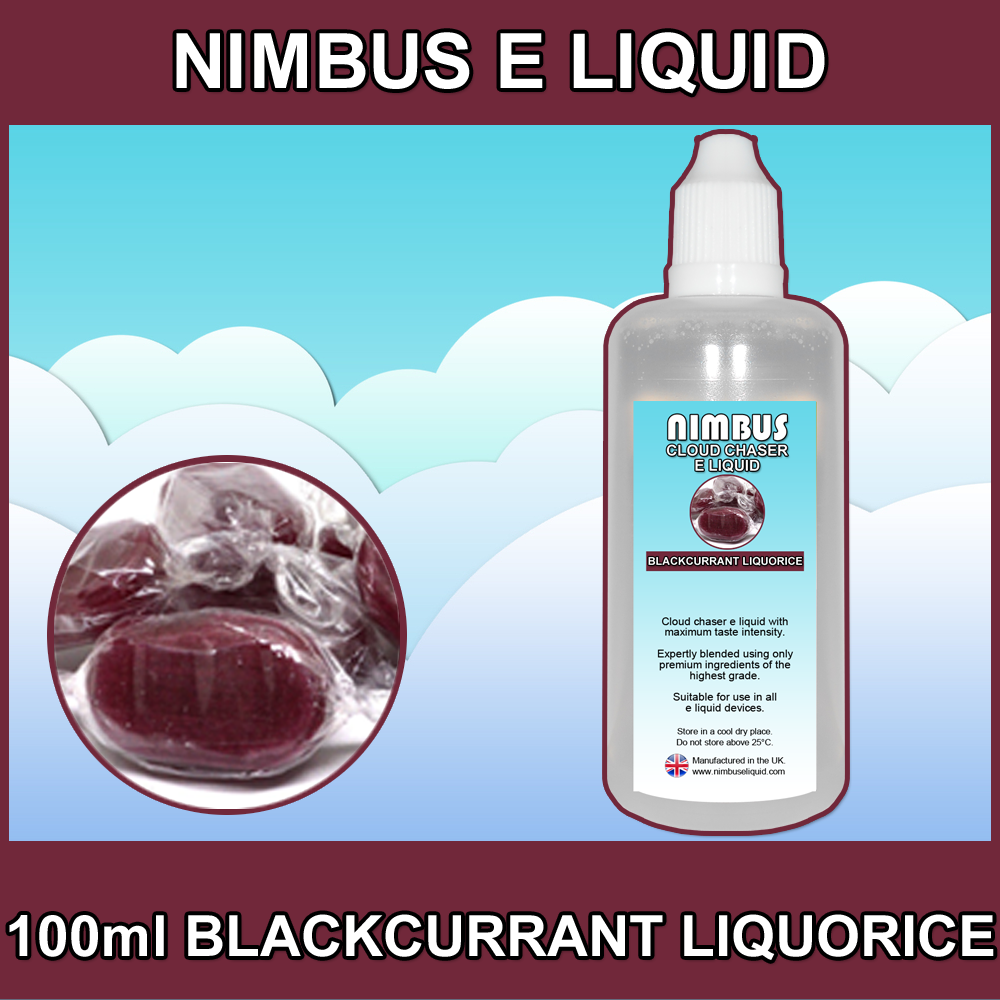 100ml Blackcurrant Liquorice E Liquid