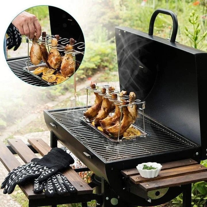 (SUMMER SALE- Save 30%)Roasted Chicken Rack Holder