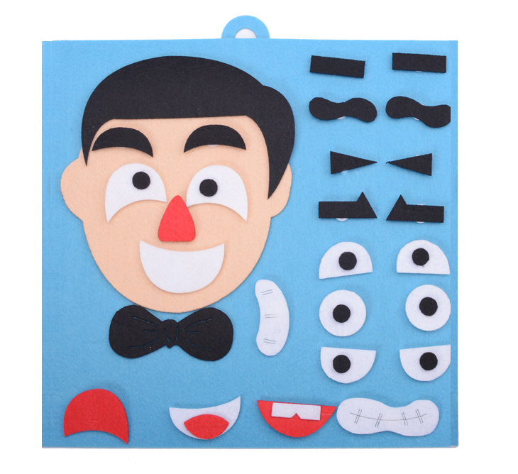 Funny Faces Changing Puzzle Toy