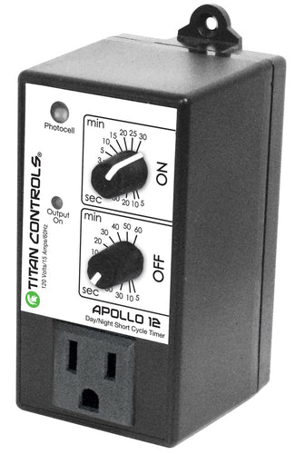 Titan Controls Apollo 12 - Short Cycle Timer With Photocell