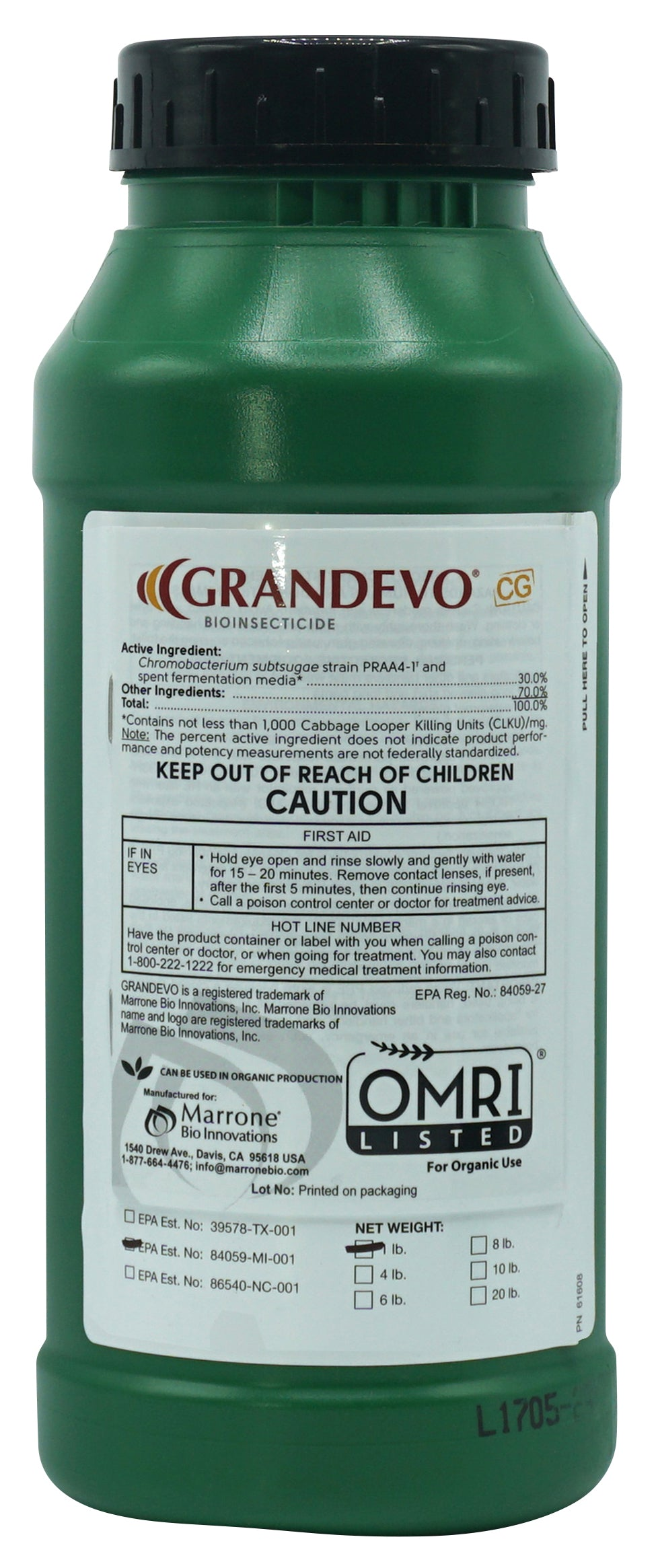 Marrone Bio Innovations - Grandevo CG - Insecticide