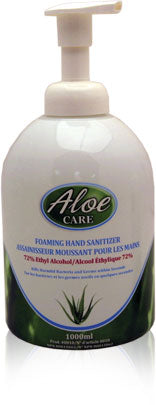Aloe Care Foam Hand Sanitizer 1L Pump Bottle