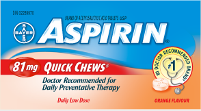 ASPIRIN 81mg Quick Chews
