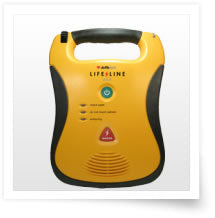 Lifeline AED w/spare pads, carry bag, memory