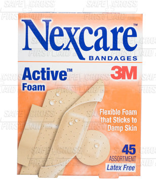Nexcare, Active Foam Bandages, Assorted, 45