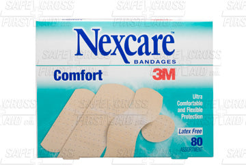 Nexcare, Comfort Bandages, Assorted Sizes, 80
