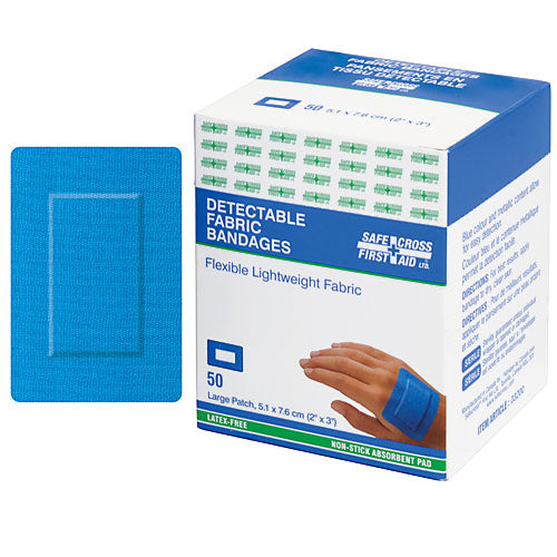 Fabric Detectable Bandages, Large Patch