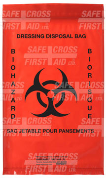 Infectious Waste Bags, 15.2 x 22.9 cm, 25's