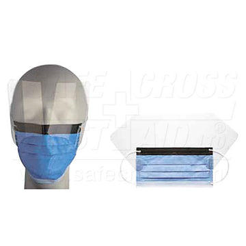Face Mask, Surgical, w/Shield & Ear Loops, 25