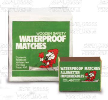 Matches Waterproof 45/Box, 10