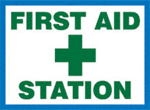 Sign - First Aid Station