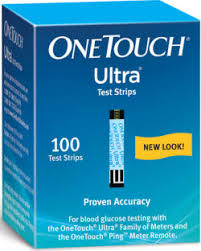 OneTouch Ultra Blood Glucose Strips 100
