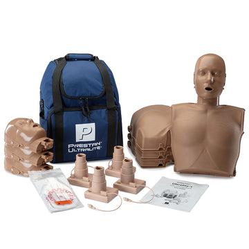 Prestan® Ultralite® Manikin Dark Skin with CPR Feedback 4-Pack