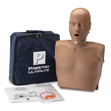 Prestan® Ultralite® Manikin Dark Skin with CPR Feedback Single
