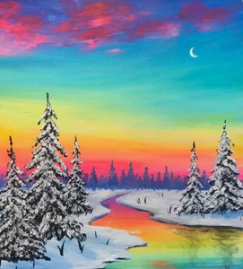 Bright Winter Evening Painting