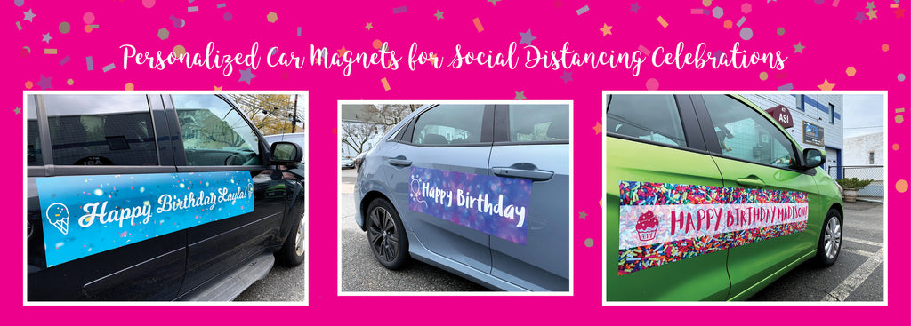 Personalized Car Magnets for Birthday Car Parades