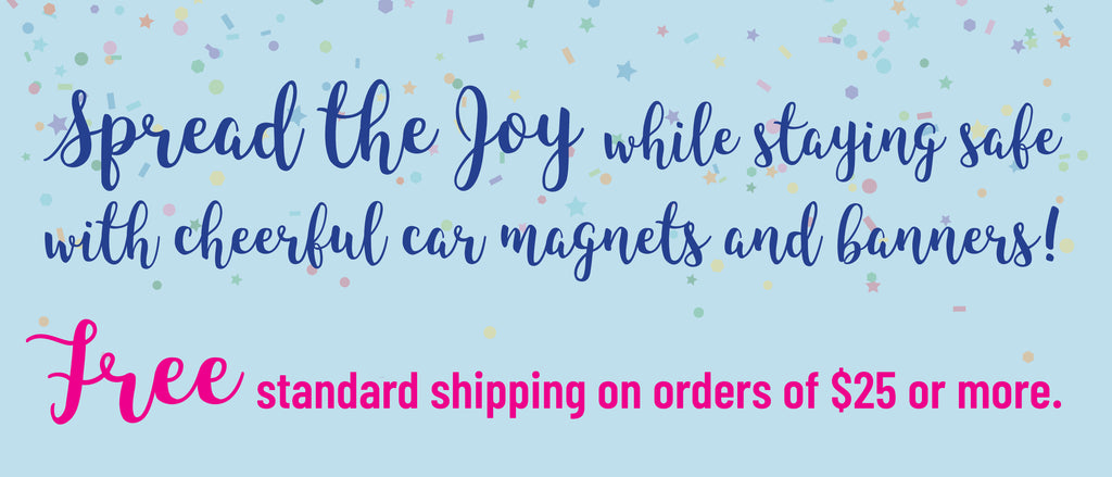 Free Shipping Celebration Car Magnets