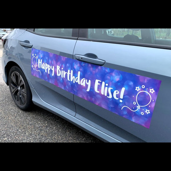 Purple Haze Birthday Car Magnet (Set of 3)