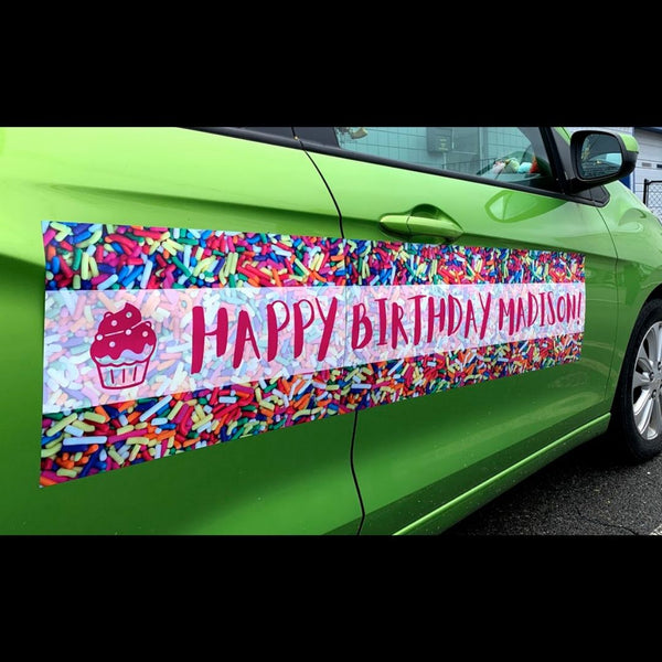 Sprinkles Birthday Car Magnet (Set of 3)