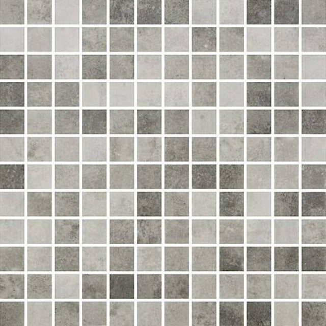 "Centura 12"" X 12""  Zement Oxide Dark Glossy Glass Wall Mosaic, available at Alberta Hardwood Flooring."