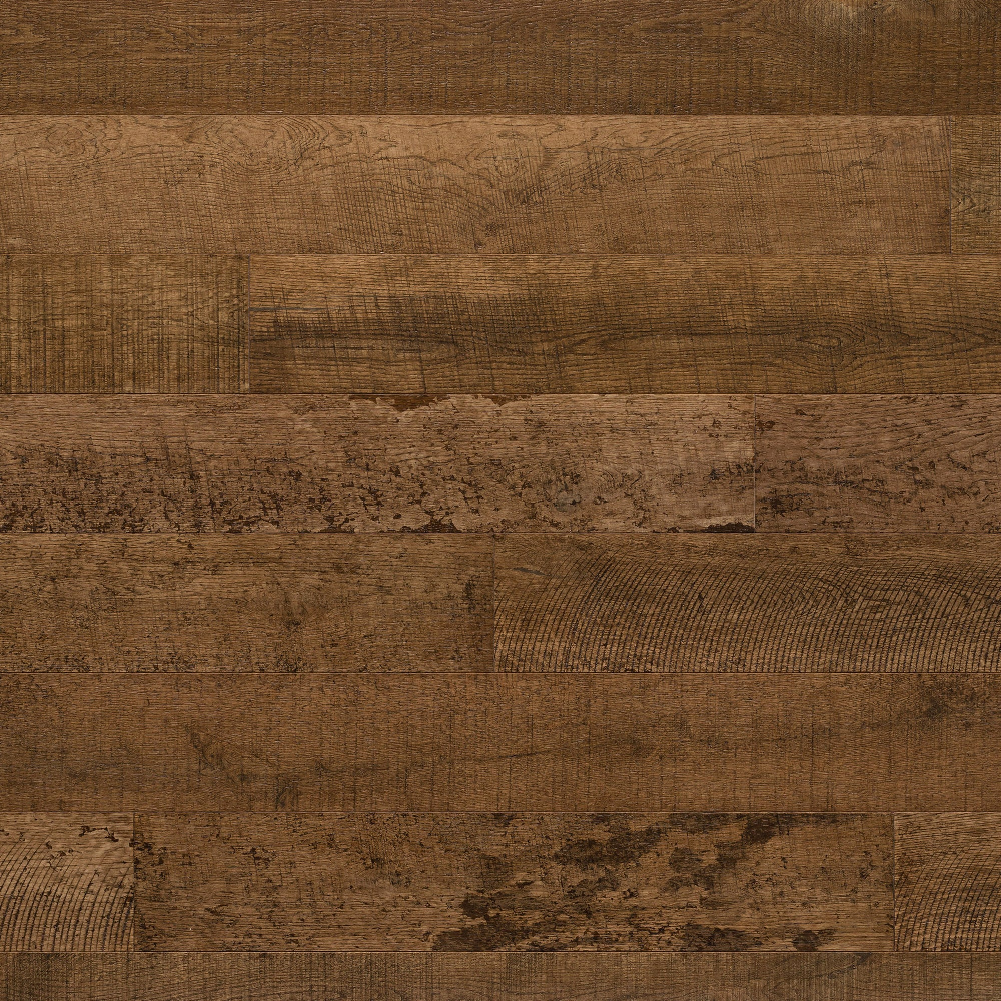 Kentwood Brushed Oak Milltown Washita, a distressed brown oak with variation in a matte finish available from Alberta Hardwood Flooring Edmonton and Calgary.